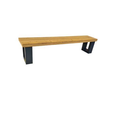 Wood4You bankje New England 120x40x38cm antraciet