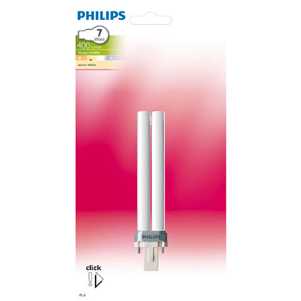 Philips spaarlamp 2-pins 7W G23