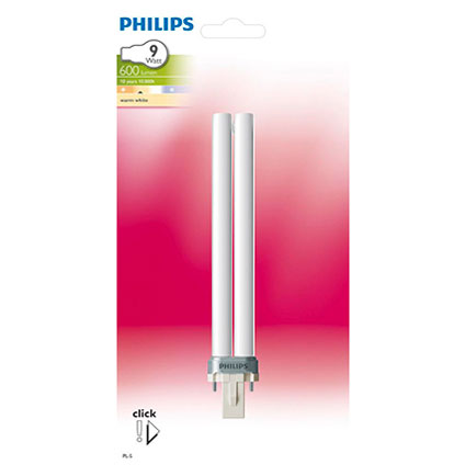 Philips spaarlamp 2-pins 9W G23