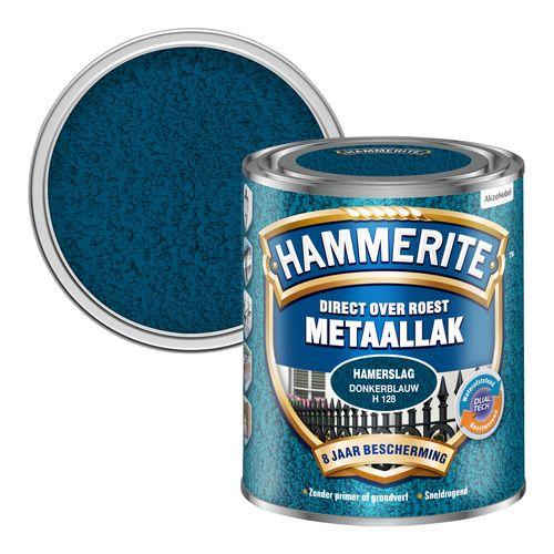 Hammerite metaalverf hamerslag glans donkerblauw 750ml