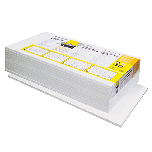 Decor isolatiepaneel 'Polystyreen' 100 x 50 x 5 cm - 5 stuks
