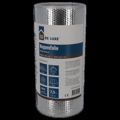 Decor aluminium noppenfolie 25 x 0,6m