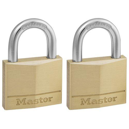 Master Lock hangslot massief messing 40mm 2st.