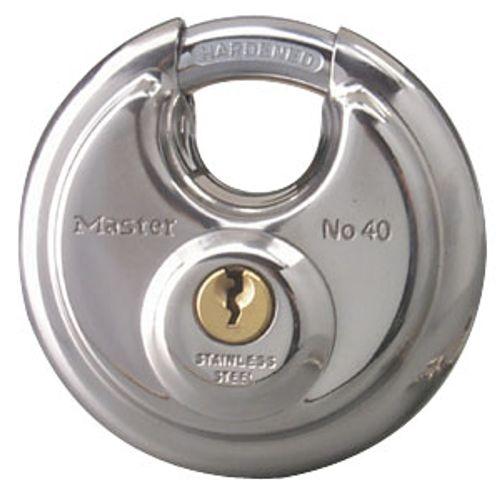 Master Lock hangslot 70mm RVS discus + beschermde beugel