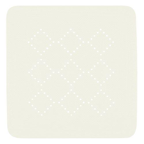 Tapis antidérapant Spirella Alaska blanc 55x55cm