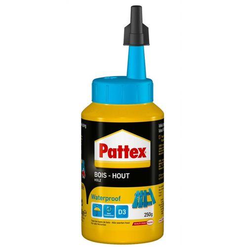 Pattex houtlijm waterproof wit 250g