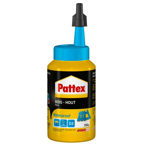 Pattex houtlijm waterproof wit 250g
