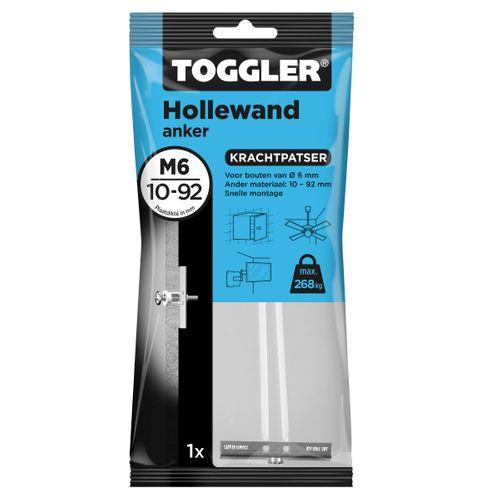 Toggler hollewandanker M6 plaatdikte 9,5-92mm 1st.