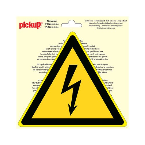 Pickup sticker Gevaarlijke elektrische spanning 20x20cm