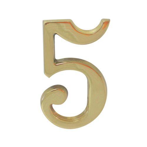 Chiffre Linea Bertomani '5' laiton poli