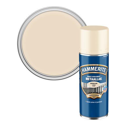 Hammerite metaallak hoogglans crème 400ml