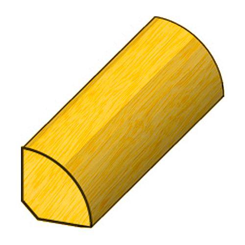 Latte en quart-de-rond JéWé marupa 1,6x1,6x240cm