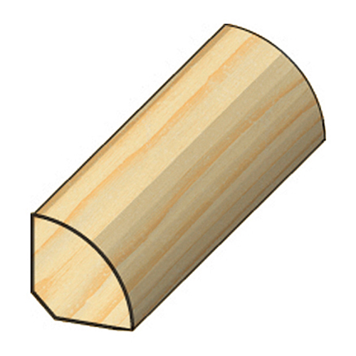 JéWé kwartronde lat grenen 1,6x1,6x240cm