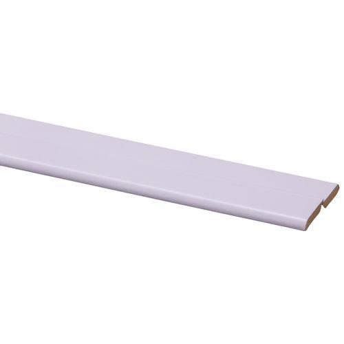 Vouwhoek MDF folie wit 21x21mm 260cm