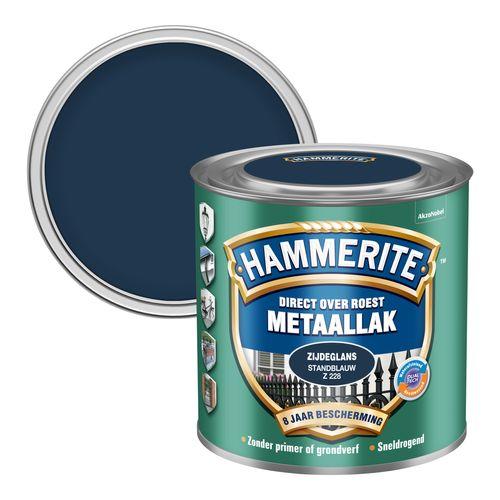 Hammerite metaalverf zijdeglans standblauw 250ml