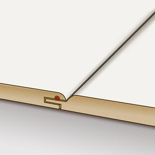 HDM wand- en plafondpaneel Pan O'Flair gelakt wit