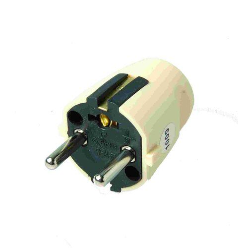 Profile stekker PVC 16A ivoor