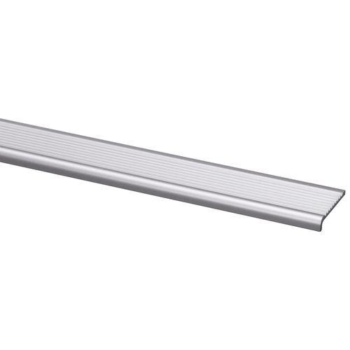 Traplijst aluminium geanodiseerd 5x25mm naturel 200cm