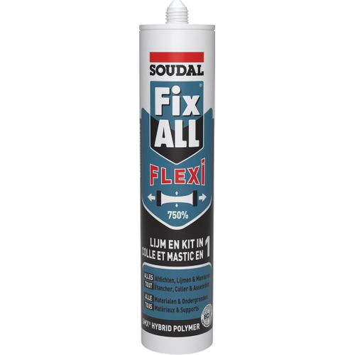 Soudal lijmkit Fix ALL Flexi Zwart 290ml