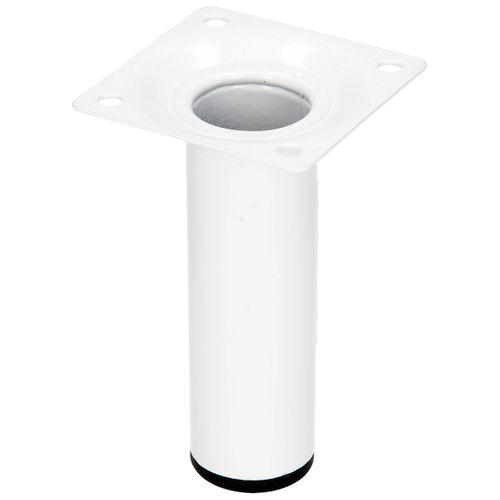 Duraline meubelpoot rond staal Ø3x10cm wit