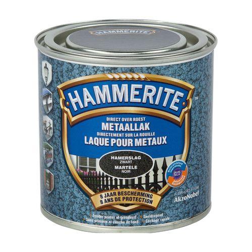 Hammerite hamerslag metaallak zwart 250ml
