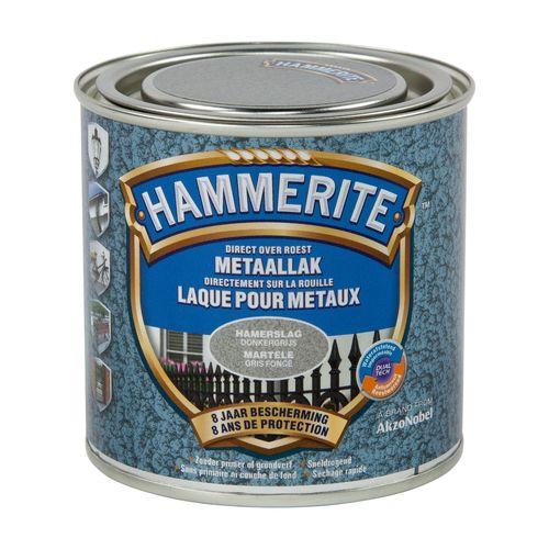 Laque métaux Hammerite martelé gris foncé 250ml