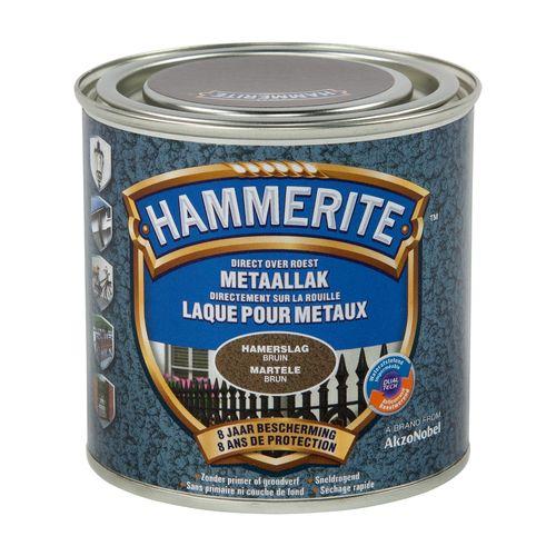 Laque métaux Hammerite martelé brun 250ml