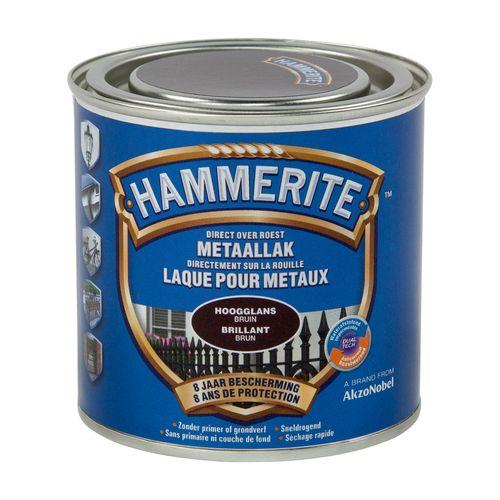 Laque métaux Hammerite brillant brun foncé 250ml