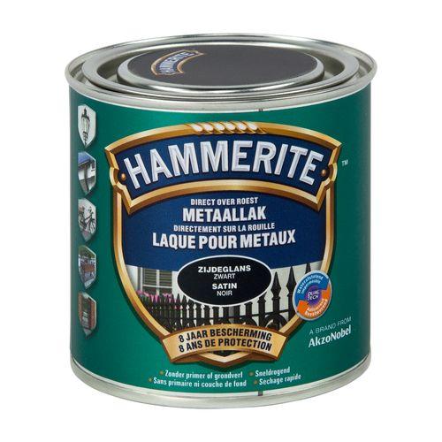 Laque métaux Hammerite satin noir 250ml