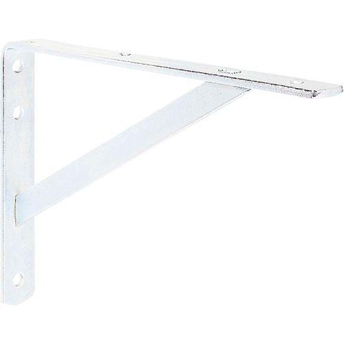 Console renforcée Meta Franc laqué blanc 30 x 20 cm.