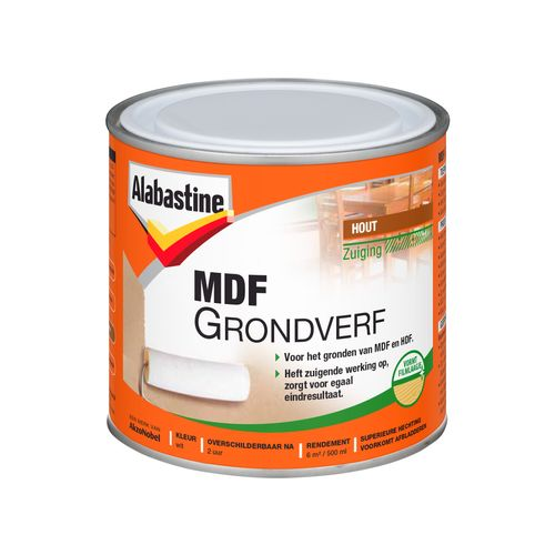 Alabastine grondverf MDF 2in1 wit 500ml