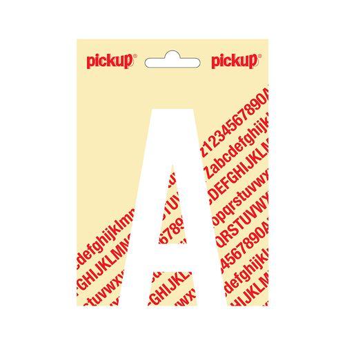 Pickup plakletter A wit mat 120mm