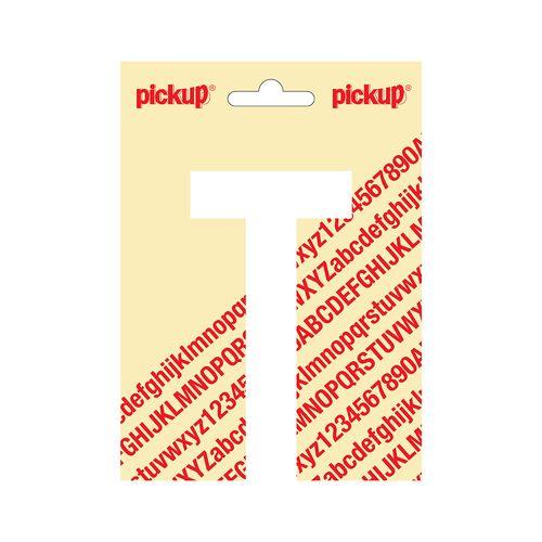 Pickup plakletter T wit mat 120 mm