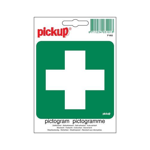 Pickup sticker EHBO post 10x10cm