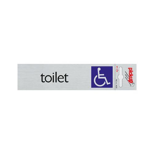 Pickup deurbordje 'Toilet' toegankelijk voor rolstoel n° 4628