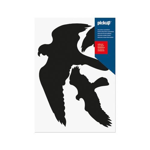 Pickup sticker Vogels zwart
