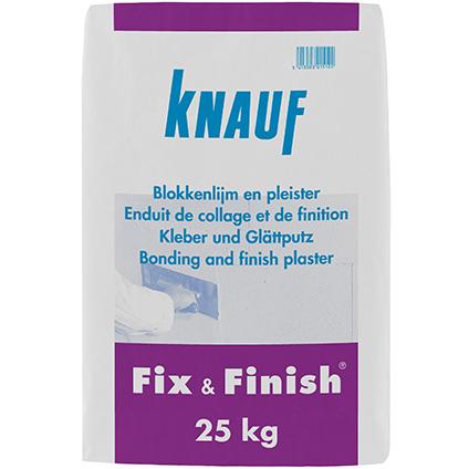 Knauf blokkenlijm en pleister 'Fix & Finish' 25 kg