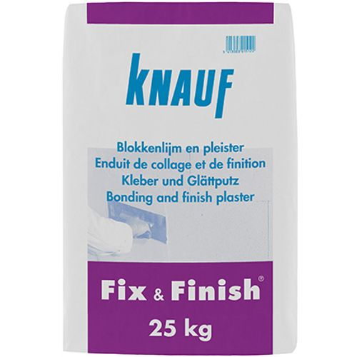 Enduit de collage et de finition Knauf  'Fix & Finish' 25 kg