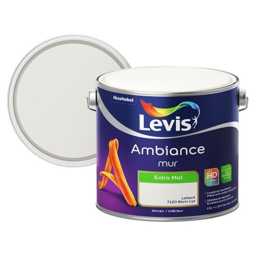 Levis muurverf Ambiance Muur leliewit extra mat 2,5L