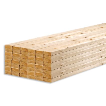 JéWé ruw hout witte Noorse den 240x10x1,9cm - 5 stuks