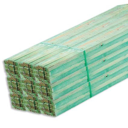 JéWé geïmpregneerd ruw hout witte Noorse den 300x4x2,2cm - 10 stuks