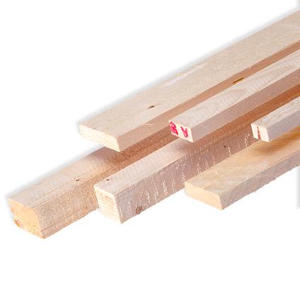 Ruw hout 300x2,4x4,6cm - 10 stuks