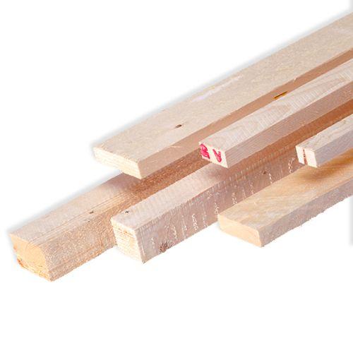 Ruw hout 240x4,6x4,6cm - 4 stuks