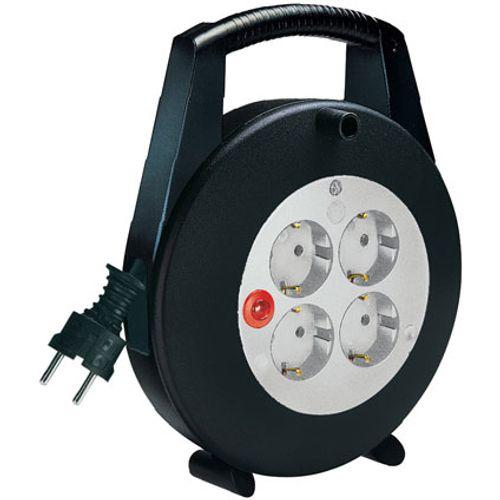 Brennenstuhl kabelbox vario line 4-voudig zwart/lichtgrijs 5m H05VV-F 3G1,5