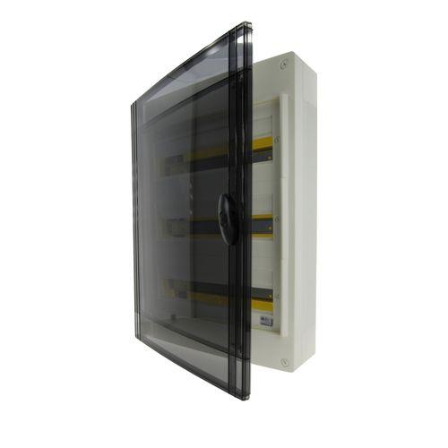 Schneider zekeringskast Boxplus18 3 rijen deur transparant