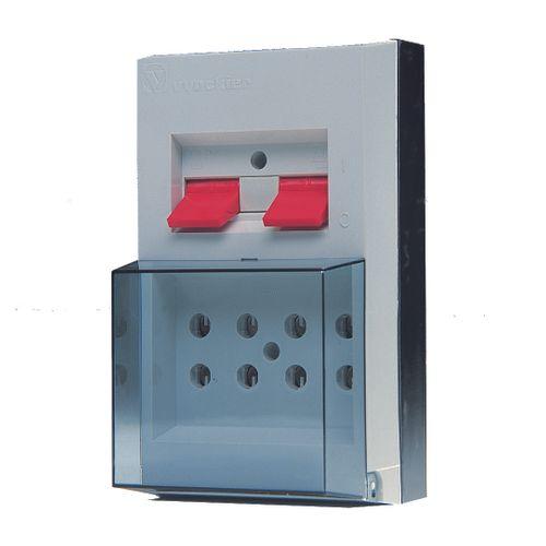 Coffret avec interrupteur 2 x 2P 16A Vynckier gris