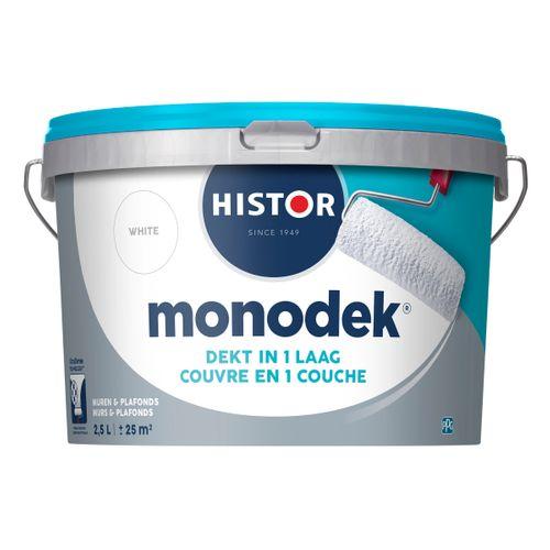 Histor latex Monodek mat wit 2,5L
