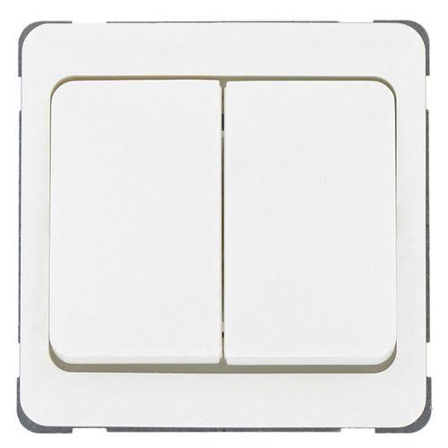 Peha serieschakelaar met afdekraam Standaard wit