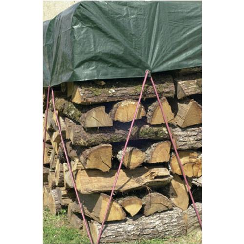 Bâche 'Protex Wood' vert 6 x 1,5 m