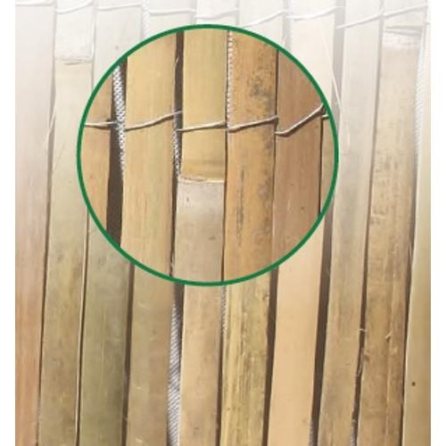 Central Park bamboemat scherm in gespleten bamboestengels 1 x 5 m